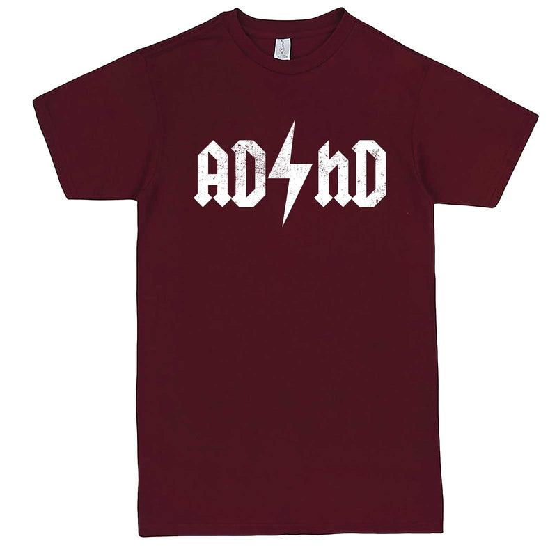 """AD/HD Concert Tee"" men's t-shirt Burgundy"