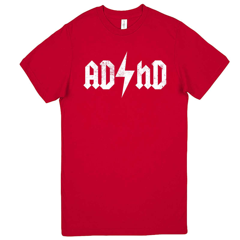"""AD/HD Concert Tee"" men's t-shirt Red"