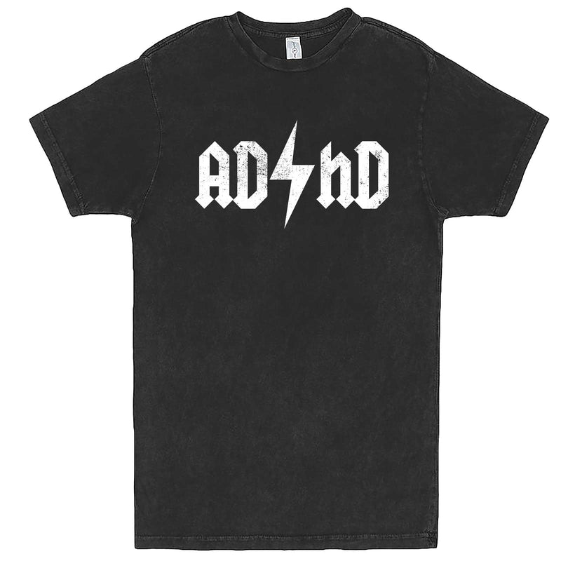 """AD/HD Concert Tee"" men's t-shirt Vintage Black"