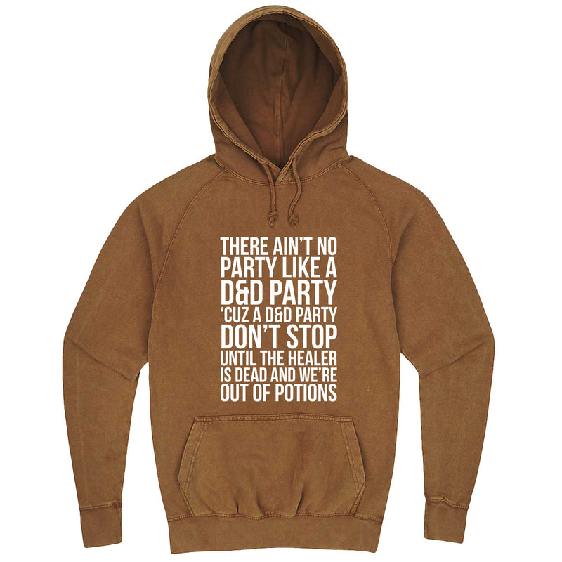"""Ain't No Party like a D&D Party"" hoodie, 3XL, Vintage Camel"