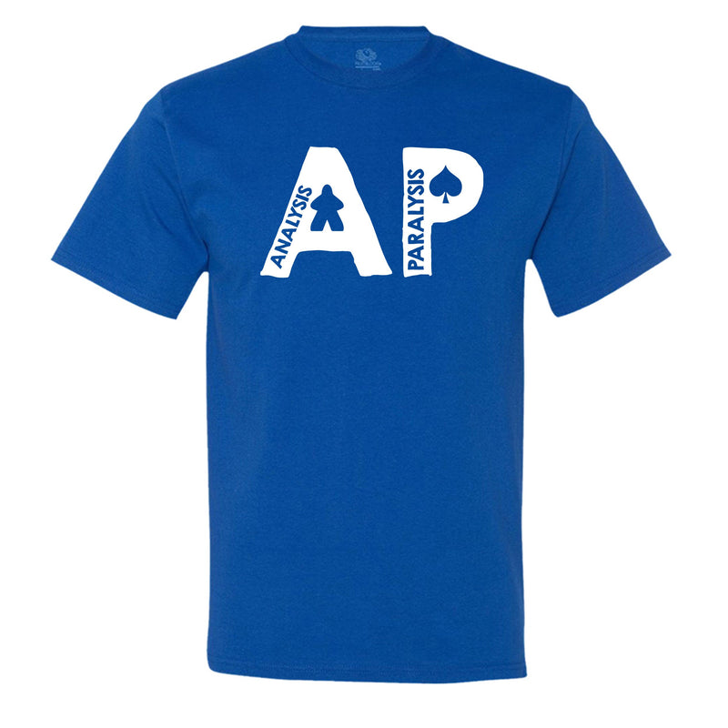 "Funny ""AP - Analysis Paralysis"" men's t-shirt Royal-Blue"
