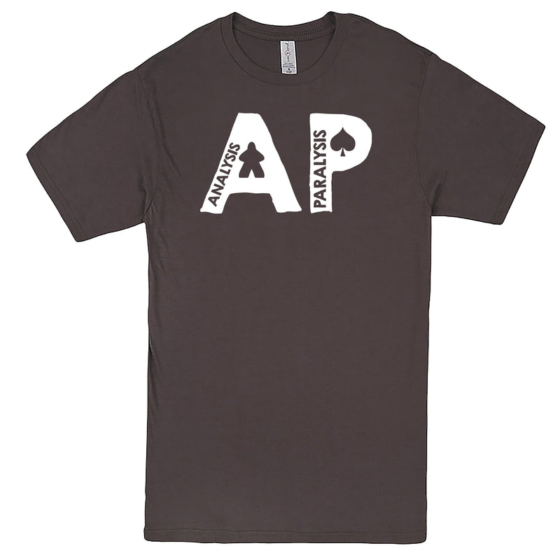 "Funny ""AP - Analysis Paralysis"" men's t-shirt Charcoal"