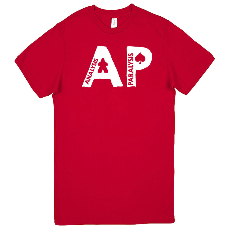 "Funny ""AP - Analysis Paralysis"" men's t-shirt Red"