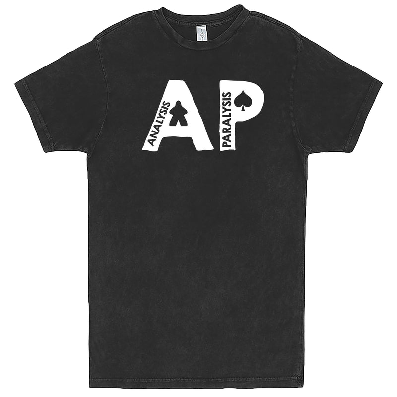 "Funny ""AP - Analysis Paralysis"" men's t-shirt Vintage Black"