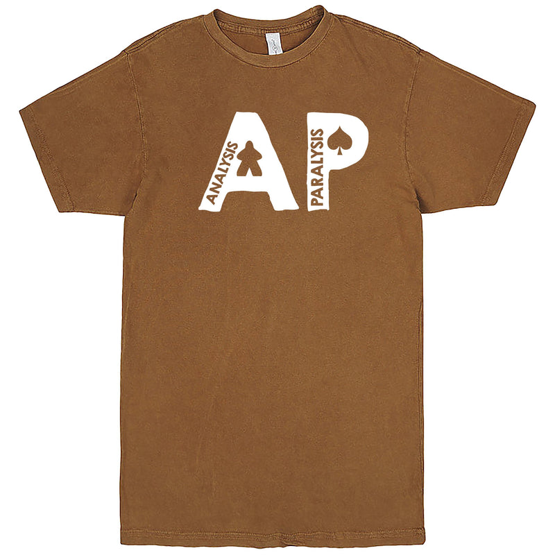 "Funny ""AP - Analysis Paralysis"" men's t-shirt Vintage Camel"