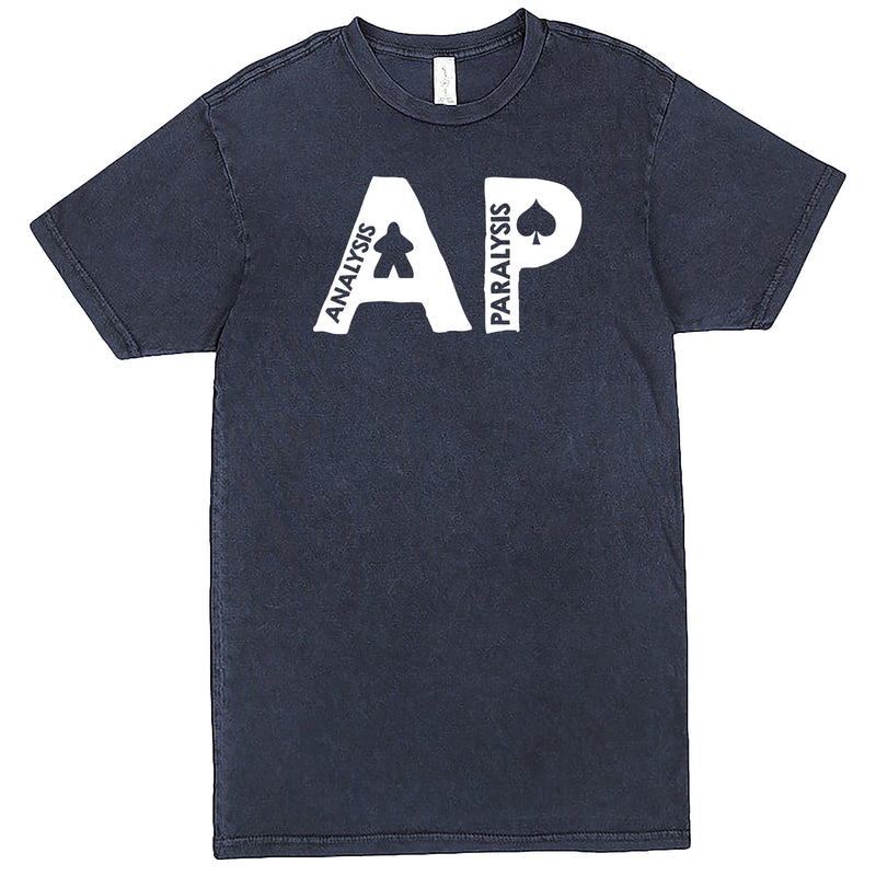 "Funny ""AP - Analysis Paralysis"" men's t-shirt Vintage Denim"