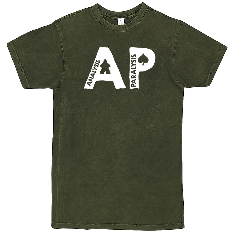 "Funny ""AP - Analysis Paralysis"" men's t-shirt Vintage Olive"