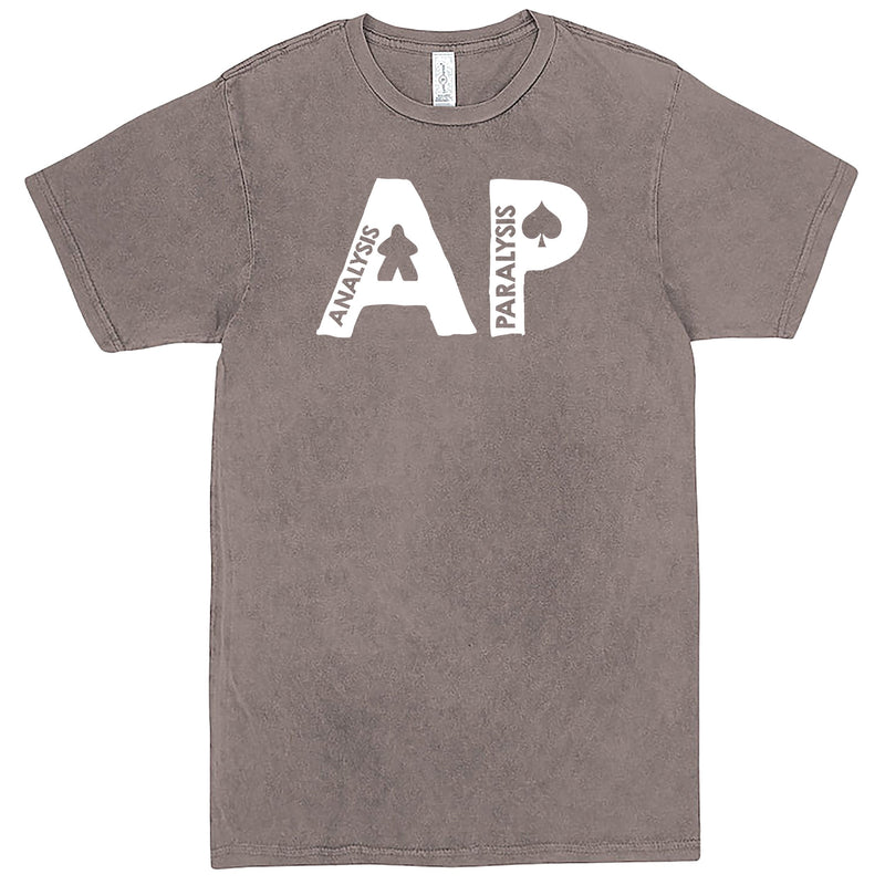 "Funny ""AP - Analysis Paralysis"" men's t-shirt Vintage Zinc"