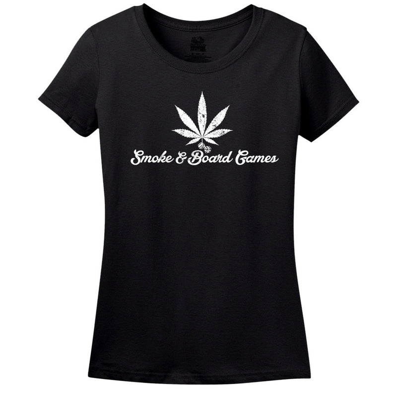 Smoke & Board Games Men's Or Women's Black Shirt