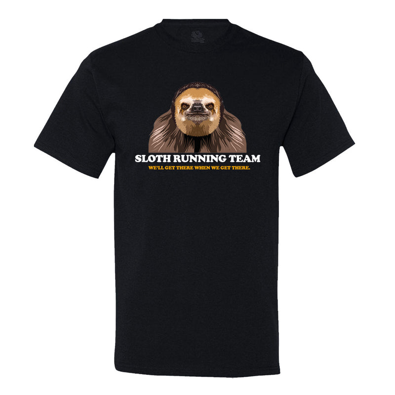 Sloth Running Team Men's Or Women's Black Shirt