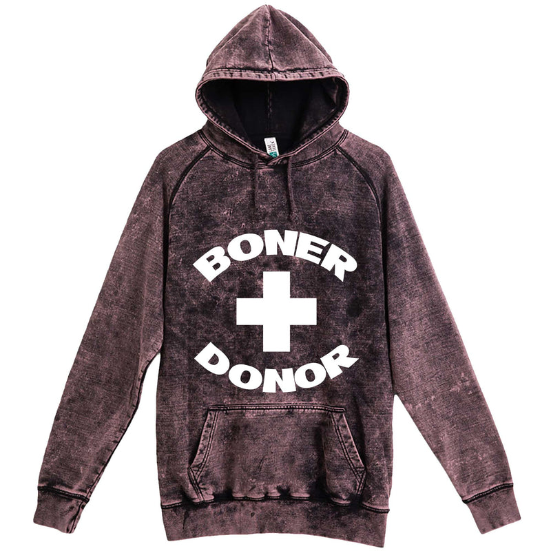 """Boner Donor"" hoodie, 3XL, Vintage Cloud Black"
