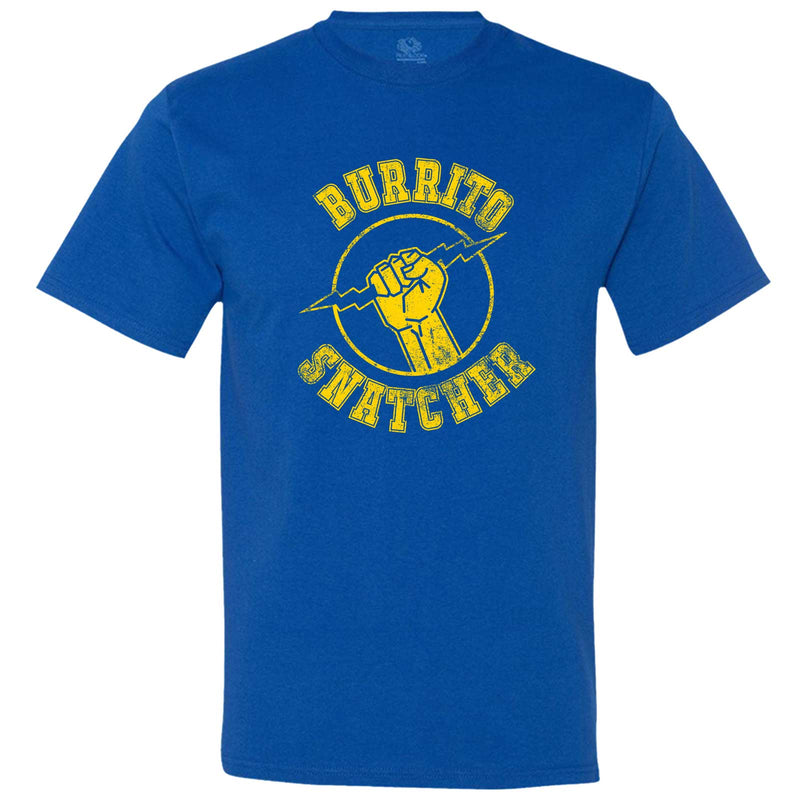 """Burrito Snatcher"" men's t-shirt Royal-Blue"