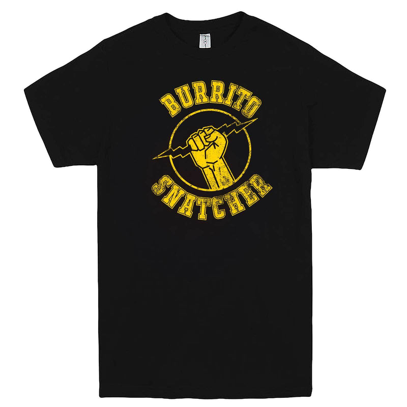 """Burrito Snatcher"" men's t-shirt Black"