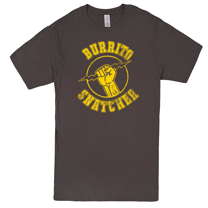 """Burrito Snatcher"" men's t-shirt Charcoal"