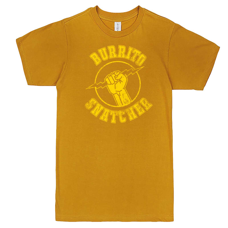 """Burrito Snatcher"" men's t-shirt Mustard"