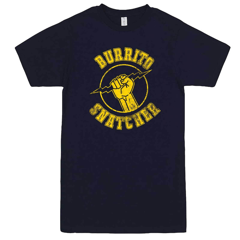 """Burrito Snatcher"" men's t-shirt Navy-Blue"