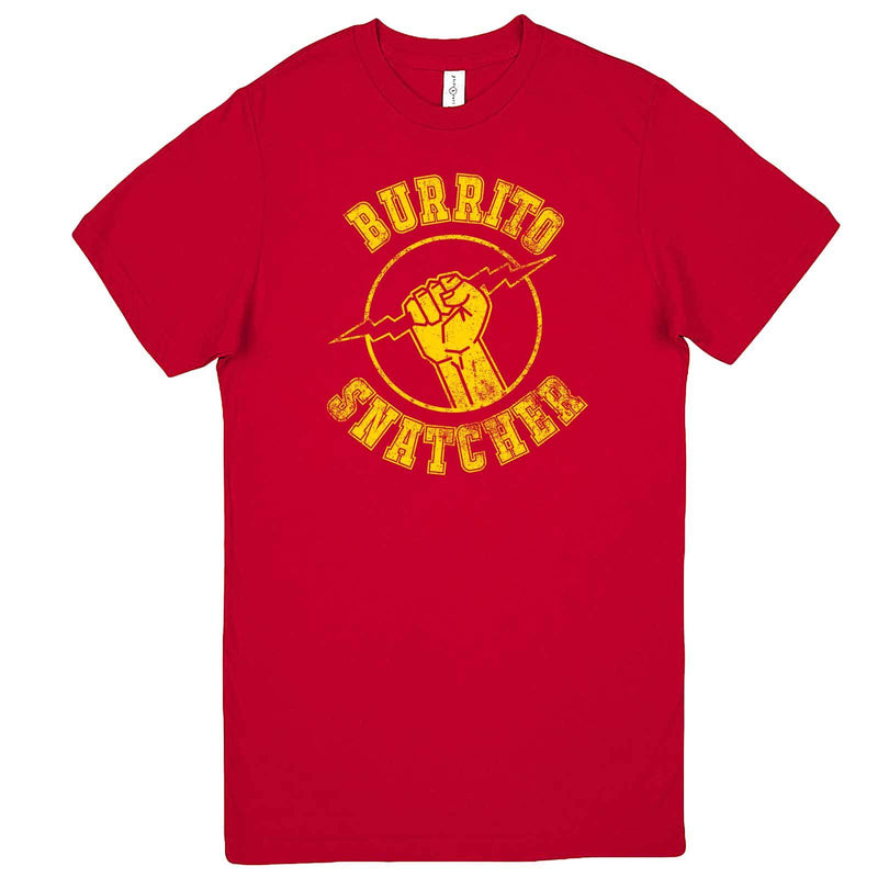 """Burrito Snatcher"" men's t-shirt Red"