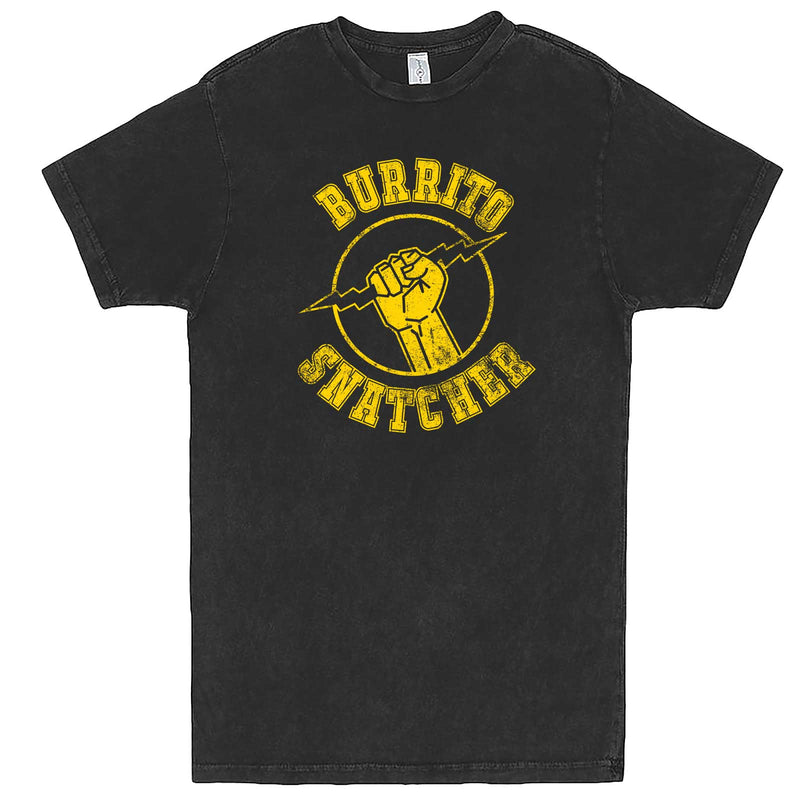 """Burrito Snatcher"" men's t-shirt Vintage Black"