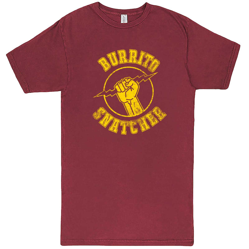 """Burrito Snatcher"" men's t-shirt Vintage Brick"