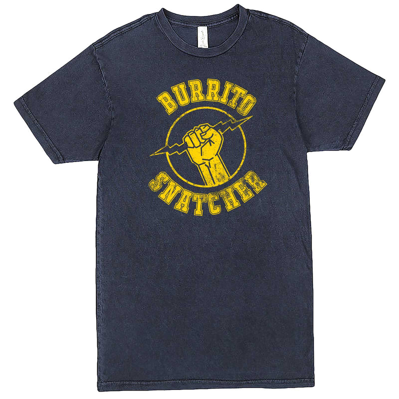 """Burrito Snatcher"" men's t-shirt Vintage Denim"