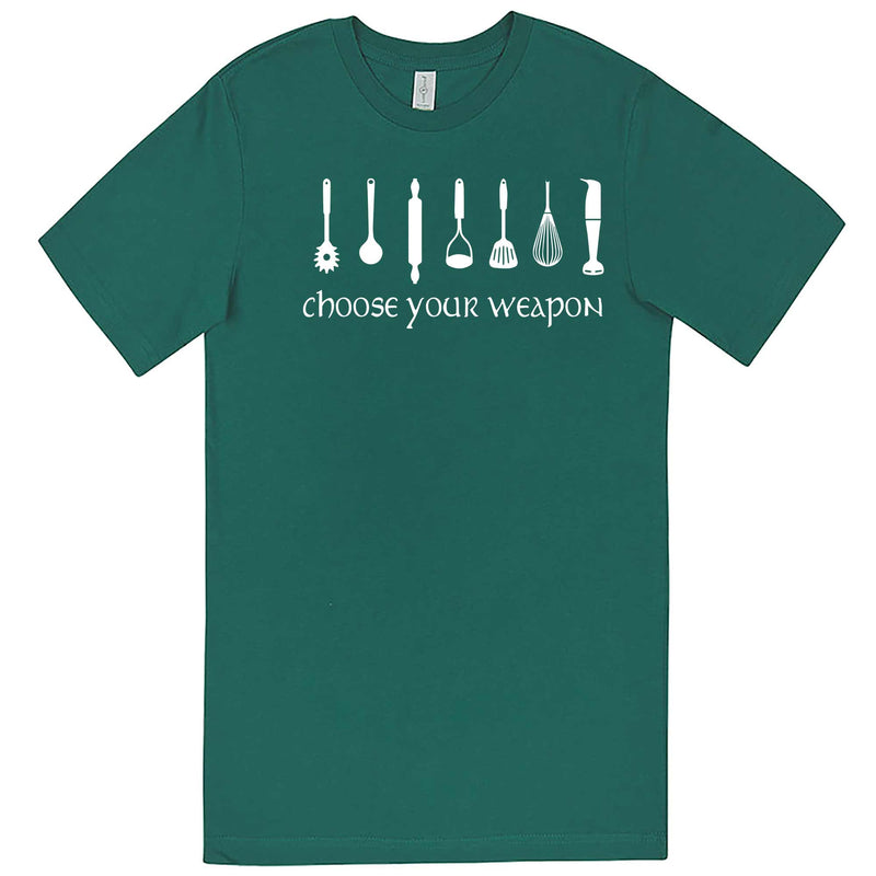 """Choose Your Weapon - Baker"" men's t-shirt Teal"