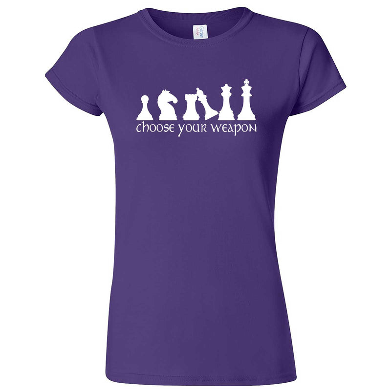 """Choose Your Weapon - Chess"" women's t-shirt Purple"
