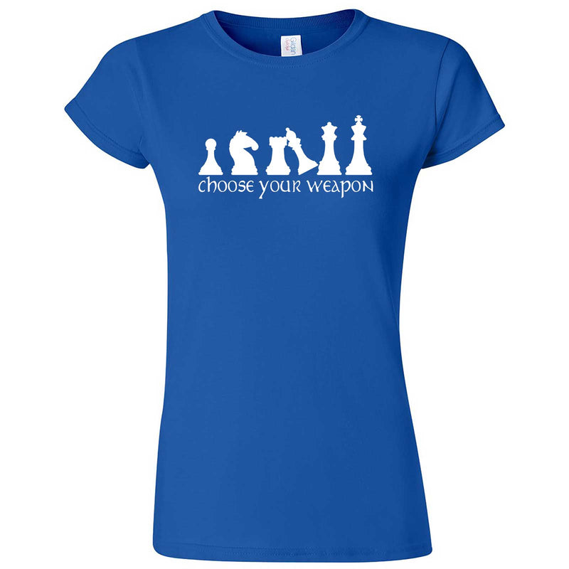 """Choose Your Weapon - Chess"" women's t-shirt Royal Blue"