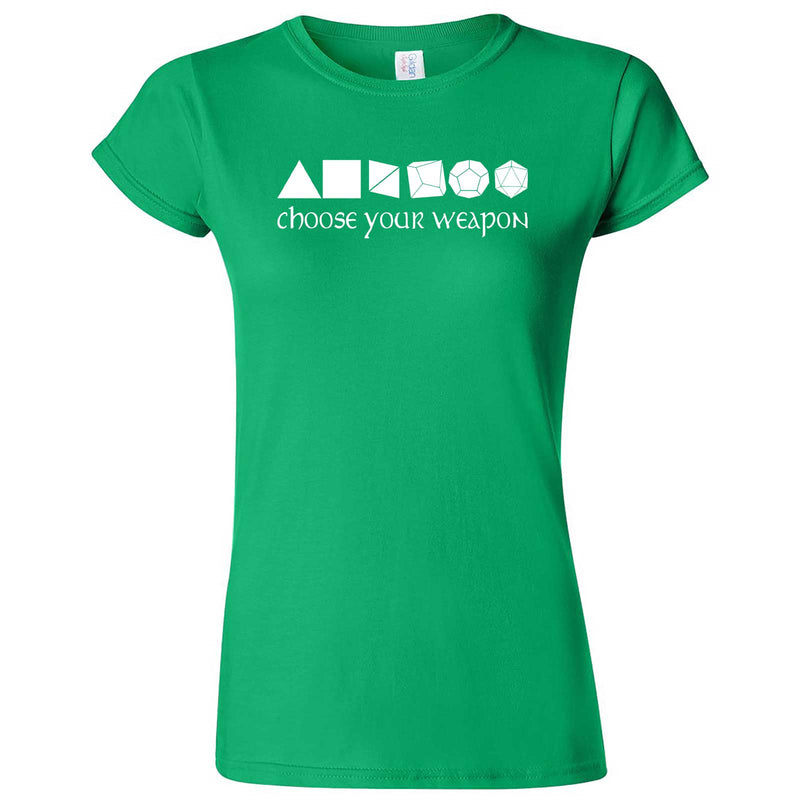 """Choose Your Weapon - Role-Playing Games"" women's t-shirt Irish Green"