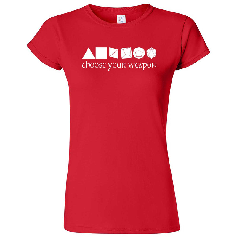 """Choose Your Weapon - Role-Playing Games"" women's t-shirt Red"