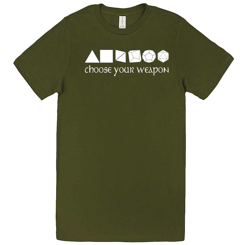 """Choose Your Weapon - Role-Playing Games"" men's t-shirt Army Green"