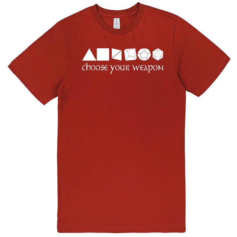 """Choose Your Weapon - Role-Playing Games"" men's t-shirt Paprika"
