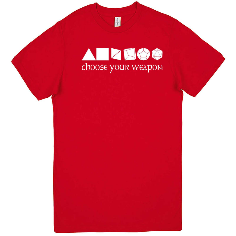 """Choose Your Weapon - Role-Playing Games"" men's t-shirt Red"