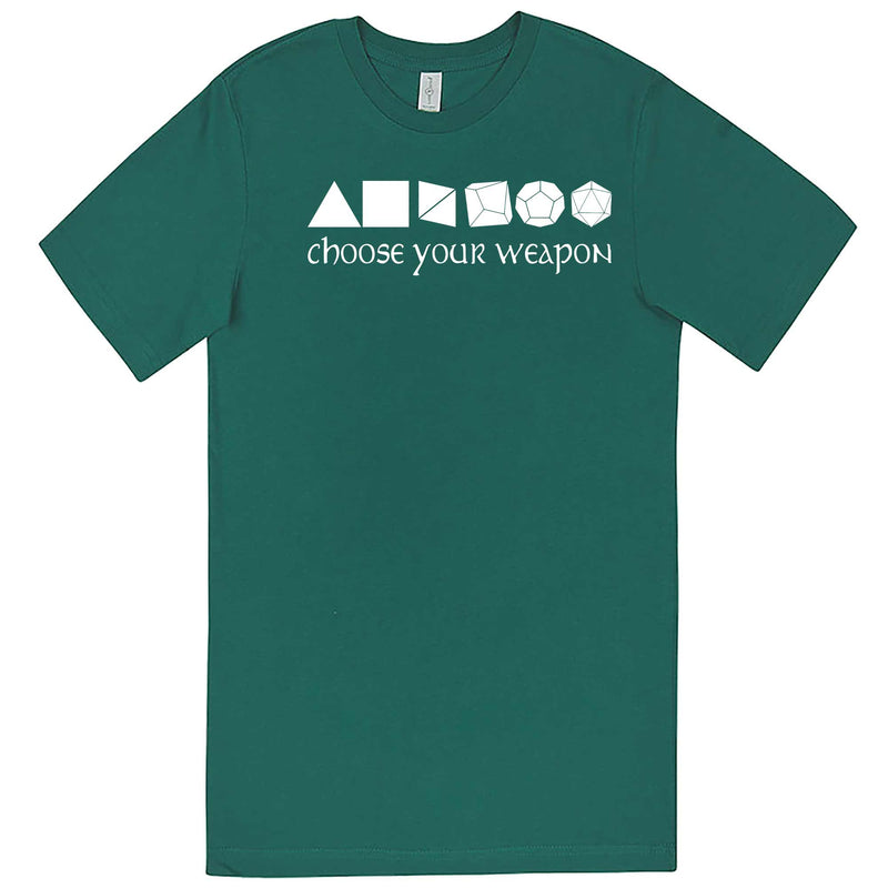 """Choose Your Weapon - Role-Playing Games"" men's t-shirt Teal"