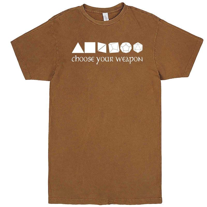 """Choose Your Weapon - Role-Playing Games"" men's t-shirt Vintage Camel"