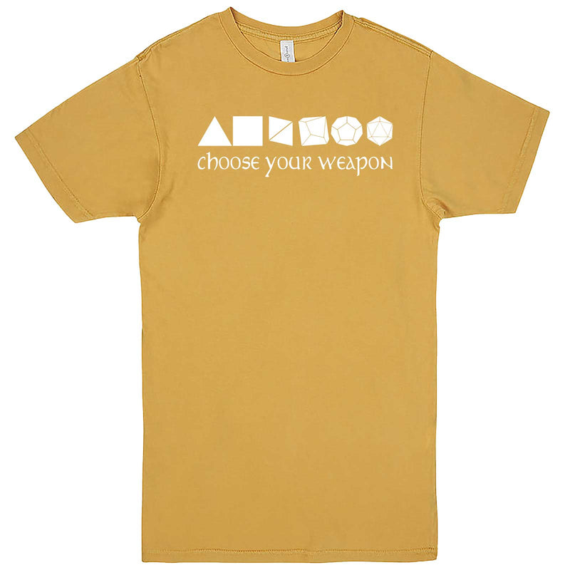 """Choose Your Weapon - Role-Playing Games"" men's t-shirt Vintage Mustard"