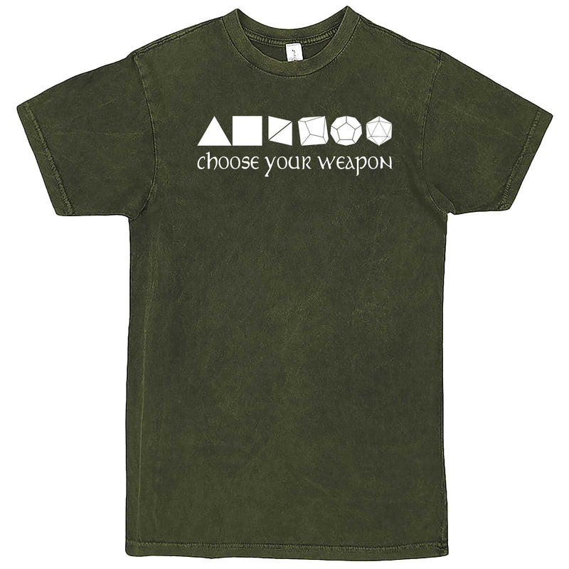 """Choose Your Weapon - Role-Playing Games"" men's t-shirt Vintage Olive"