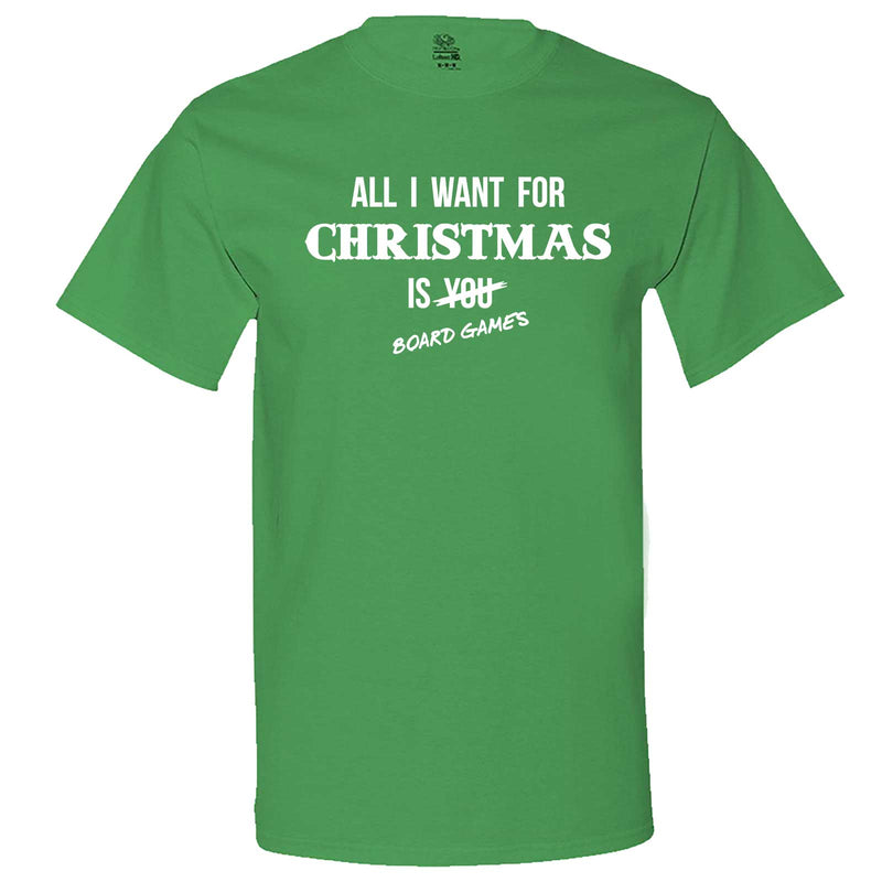 """All I Want for Christmas is Board Games"" men's t-shirt Irish-Green"