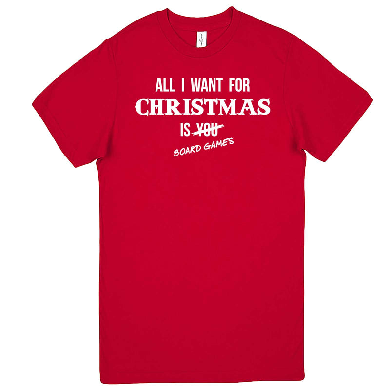 """All I Want for Christmas is Board Games"" men's t-shirt Red"