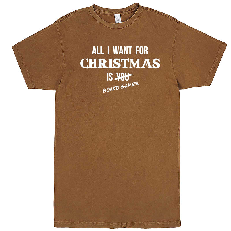 """All I Want for Christmas is Board Games"" men's t-shirt Vintage Camel"