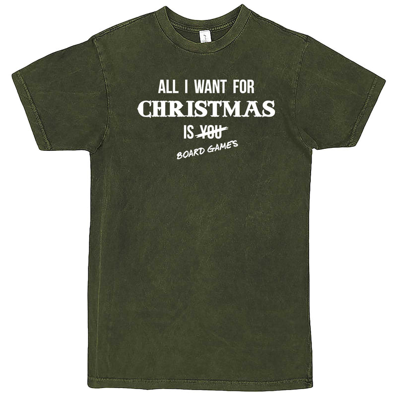 """All I Want for Christmas is Board Games"" men's t-shirt Vintage Olive"