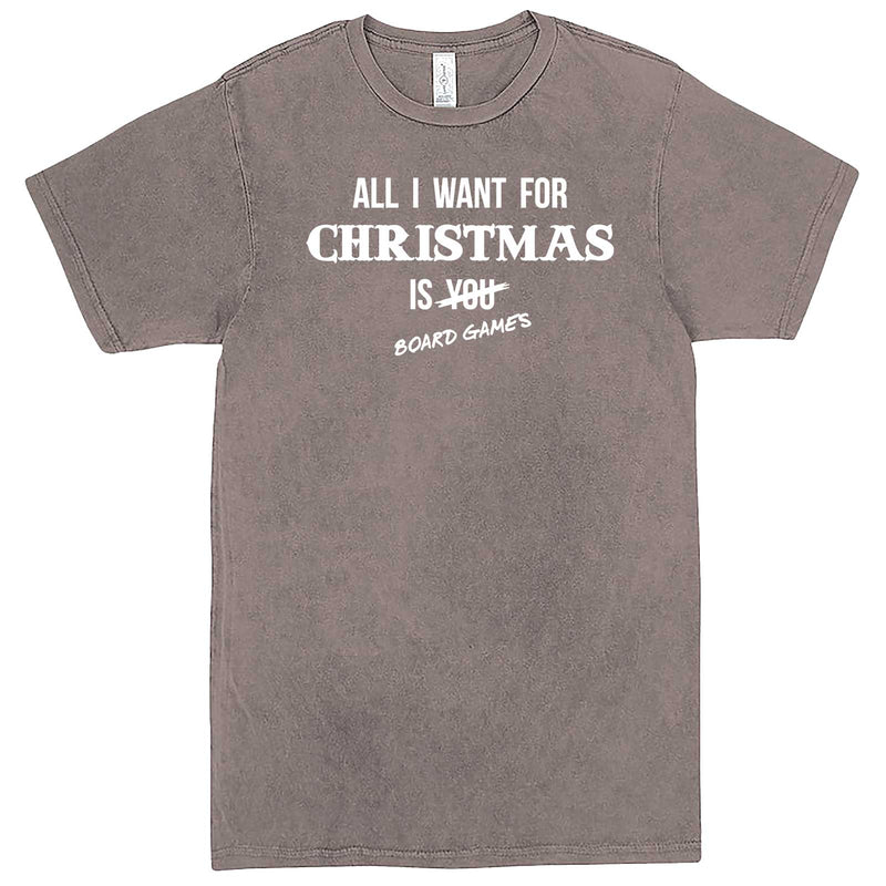 """All I Want for Christmas is Board Games"" men's t-shirt Vintage Zinc"