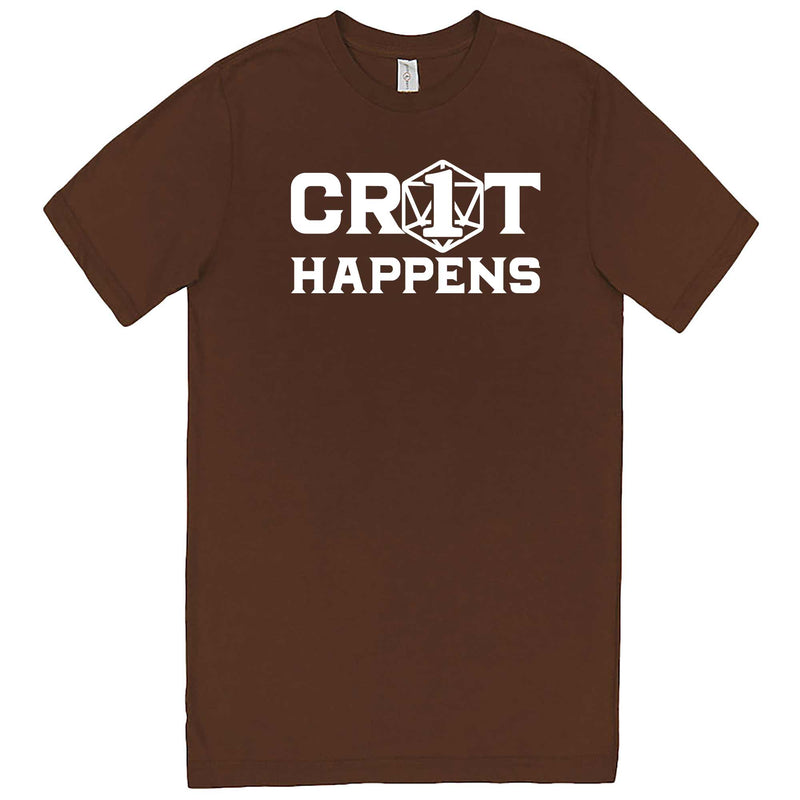 """Crit Happens"" men's t-shirt Chestnut"