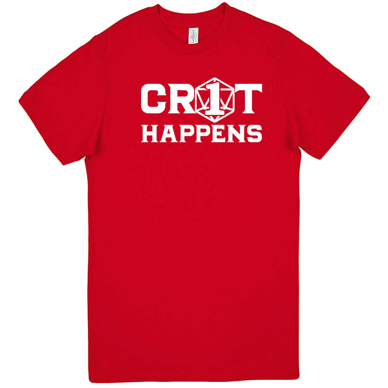 """Crit Happens"" men's t-shirt Red"