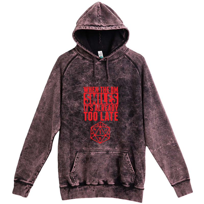 """When the DM Smiles It's Already Too Late, Red"" hoodie, 3XL, Vintage Cloud Black"