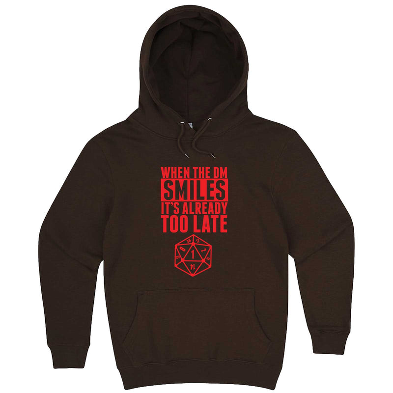 """When the DM Smiles It's Already Too Late, Red"" hoodie, 3XL, Chestnut"