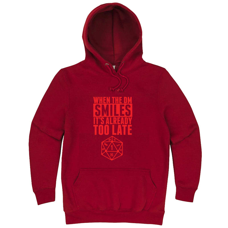 """When the DM Smiles It's Already Too Late, Red"" hoodie, 3XL, Paprika"
