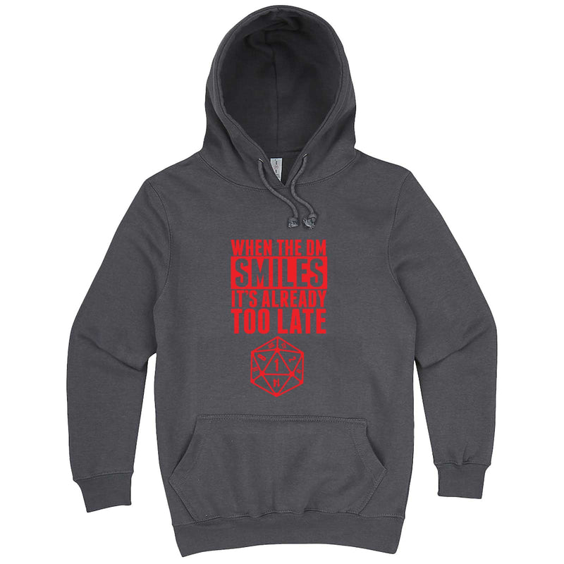 """When the DM Smiles It's Already Too Late, Red"" hoodie, 3XL, Storm"