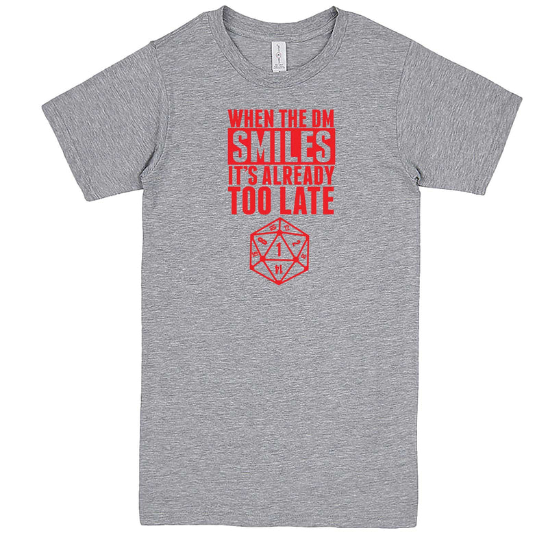 """When the DM Smiles It's Already Too Late, Red"" men's t-shirt Heather-Grey"