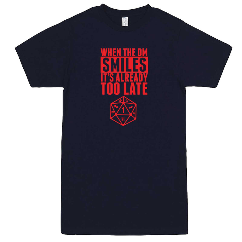 """When the DM Smiles It's Already Too Late, Red"" men's t-shirt Navy-Blue"