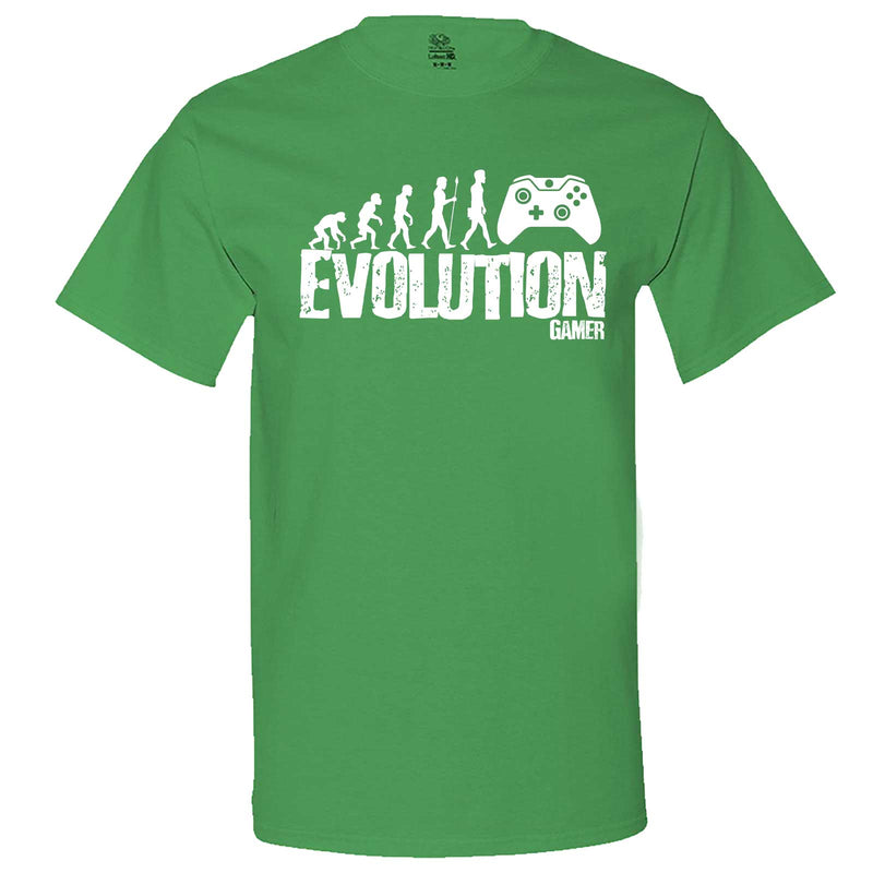 """Evolution of a Gamer"" men's t-shirt Irish-Green"
